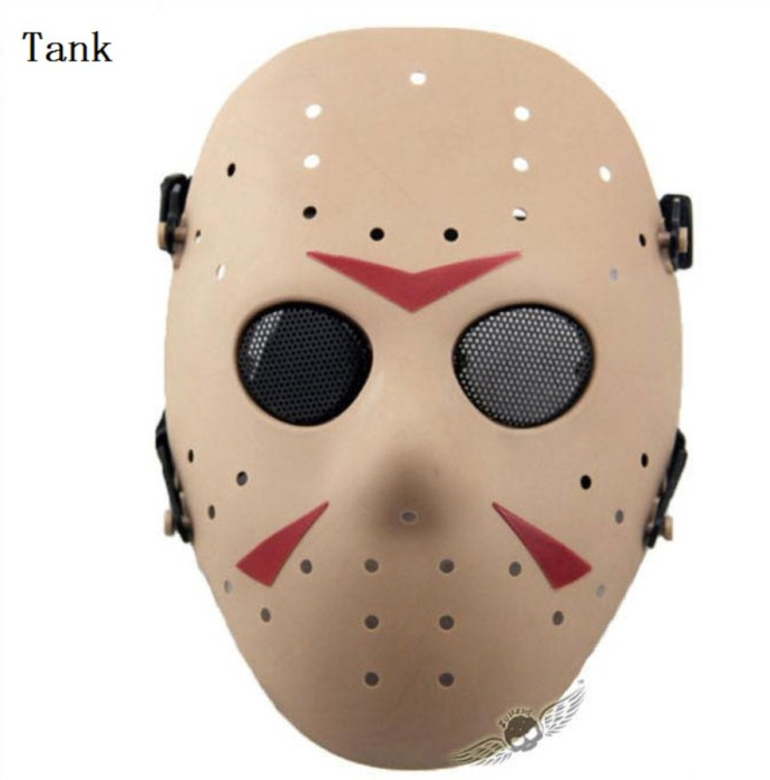 Paintball Airsoft Tactical Jungle Full Face Mask Tan