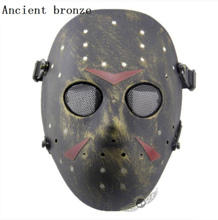 Paintball Airsoft Tactical Jungle Full Face Mask Bronze