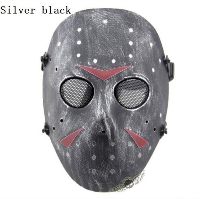Paintball Airsoft Tactical Jungle Full Face Mask Grey