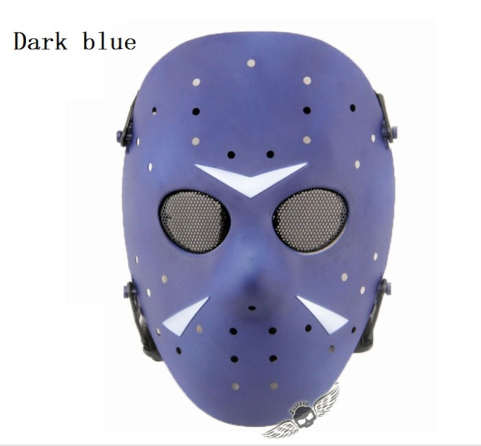 Tactical Jungle Paintball Airsoft Full Face Mask Blue