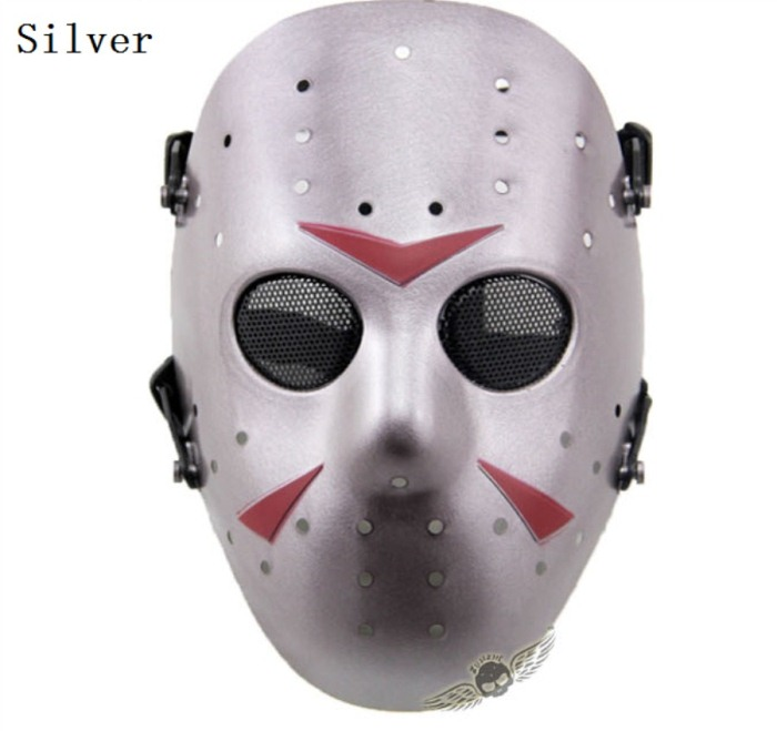 Tactical Jungle Paintball Airsoft Full Face Mask Sliver