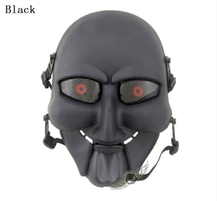 Chainsaw Killer Movie Tactical Paintball Full Face Mask Black