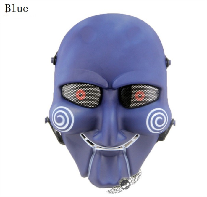 Chainsaw Killer Movie Tactical Paintball Full Face Mask Blue