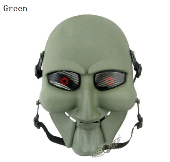 Chainsaw Killer Movie Tactical Paintball Full Face Mask Green