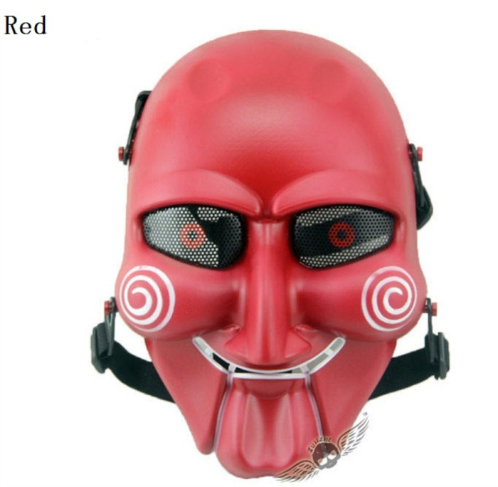 Chainsaw Killer Movie Tactical Paintball Full Face Mask Red