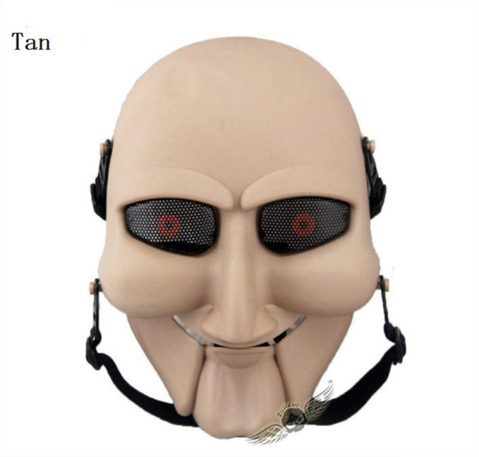 Chainsaw Killer Movie Tactical Paintball Full Face Mask Tan