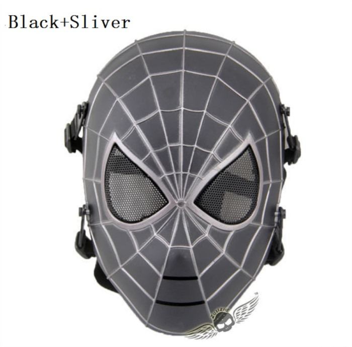 Tactical Military Army Paintball Skull Full Spider Mask BS