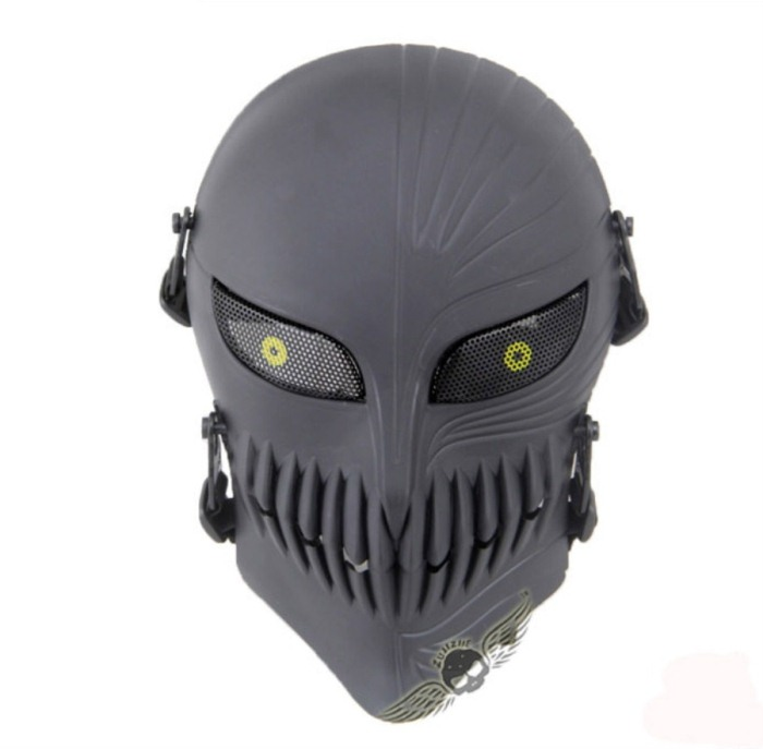 Tactical Military Army Paintball Skull Full Hunting Mask Black