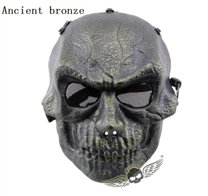 Army Paintball Skull Full Hunting Tactical Military Mask Bronze