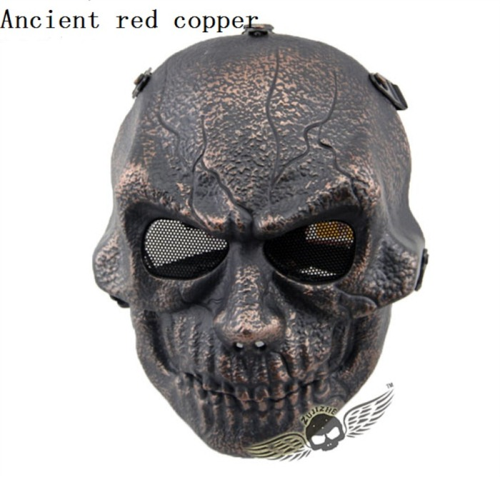 Army Paintball Skull Full Hunting Tactical Military Mask Copper