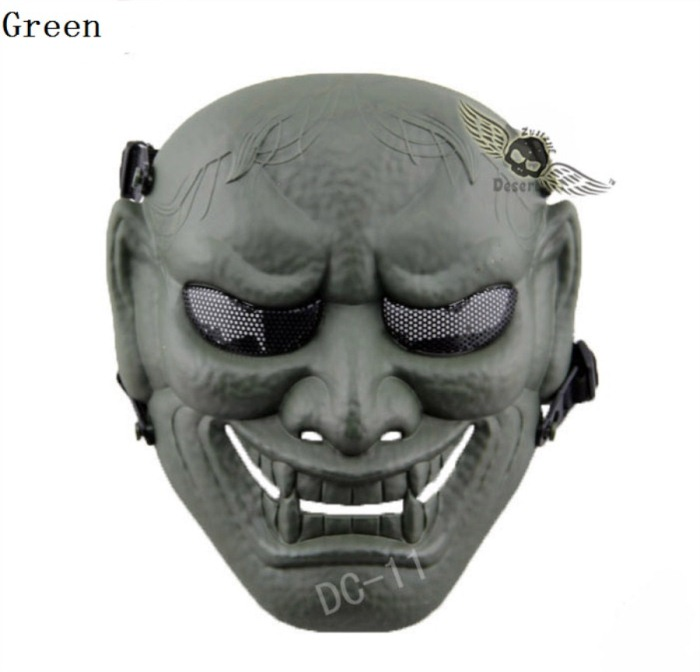 Military Paintball Tactical Skull Airsoft Full Face Masks Green