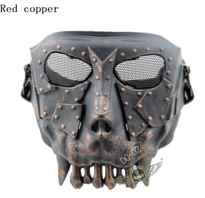 Fishing Masks Motorcycle Protective Mask CS Full Face Masks Copper
