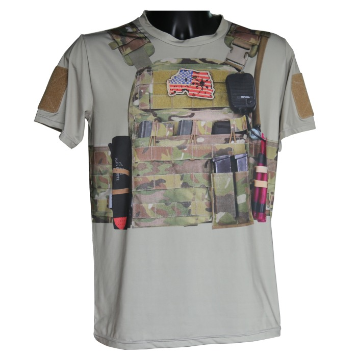 3D Meterial Newest Tactical Molle Combat Quick Drying T Shirts M-XXL