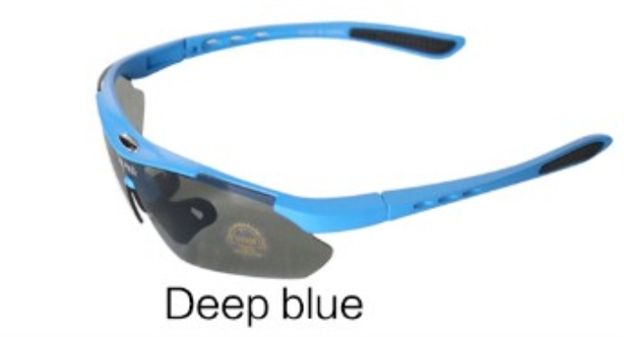 Luxury Men Cycling Eyewear Bike Sunglasses Deep Blue