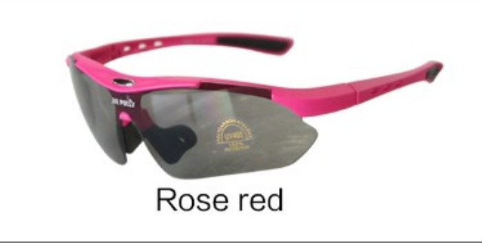 Free Soldier Outdoor Sport Camping Hiking Cycling Glasses Rose Red