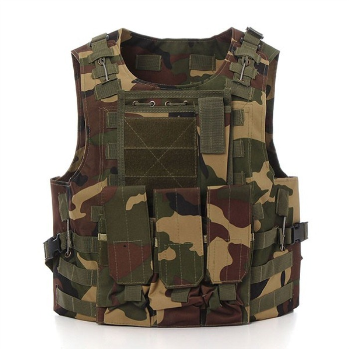 Outdoor Military Tactical Vest Army Polyester Airsoft War Game Hunti