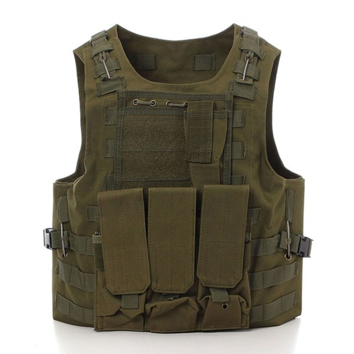 Tactical CS Games Protective Waistcoat Hunting Travel Vest Green