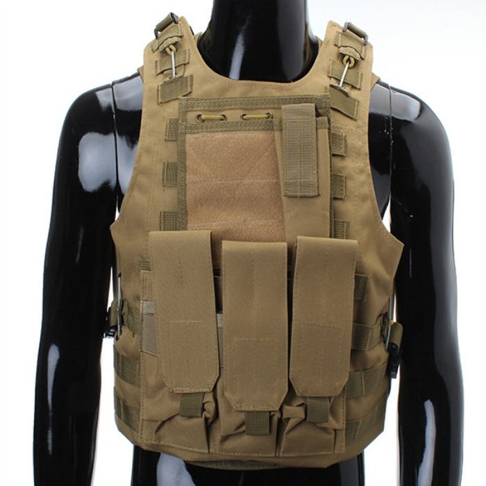 CS War Game Tan Color Vest Protective Airsoft Painball Combat Vest