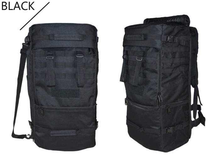1.6 KG Big Capacity Oxford Material Tactical Travel Backbags Black