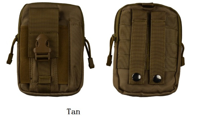 Tactical Waist Bags 0.17KG Weight Outdoor Shoulder Bags Tan