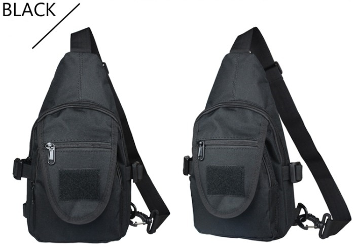 Tactial Oxford Meterial Chest Packbags Shoulder Bags Black