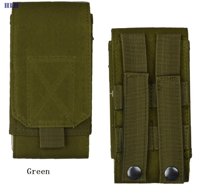 Single Mini Bags Oxford Molle Men Military Waist Packs Green