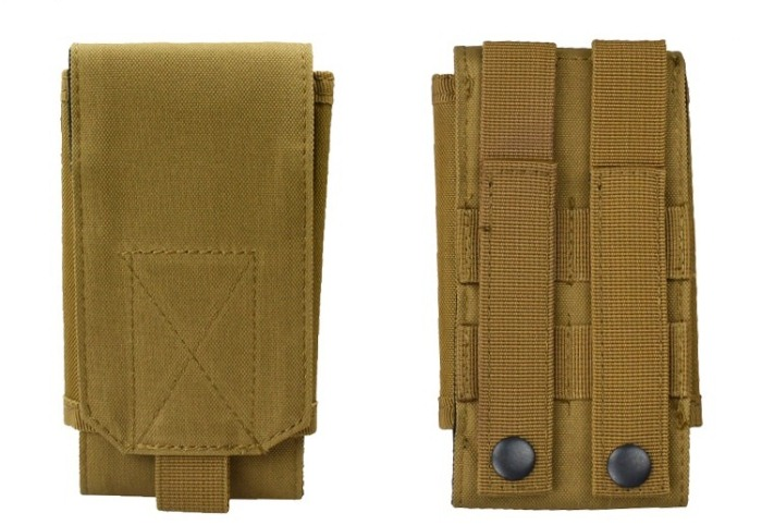 Tactical Mini Phone Bags Compat Packbags for Men's Tan Color
