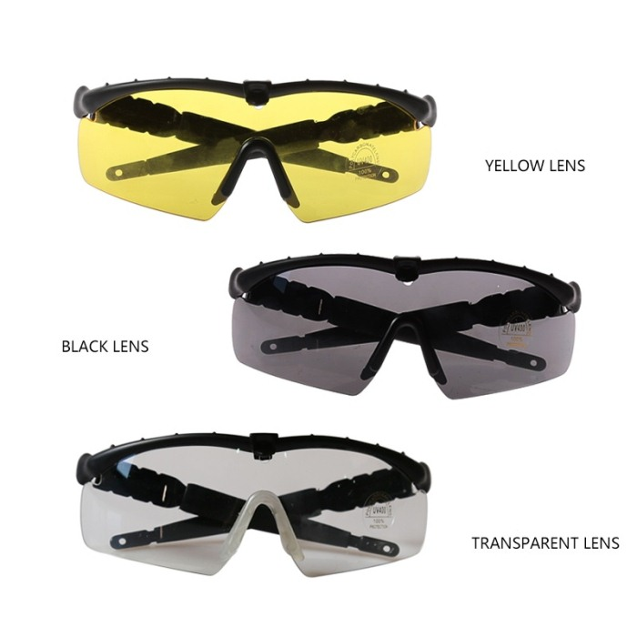 Men'S Goggles Travel Hunting Military Sunglass With 3 Lens