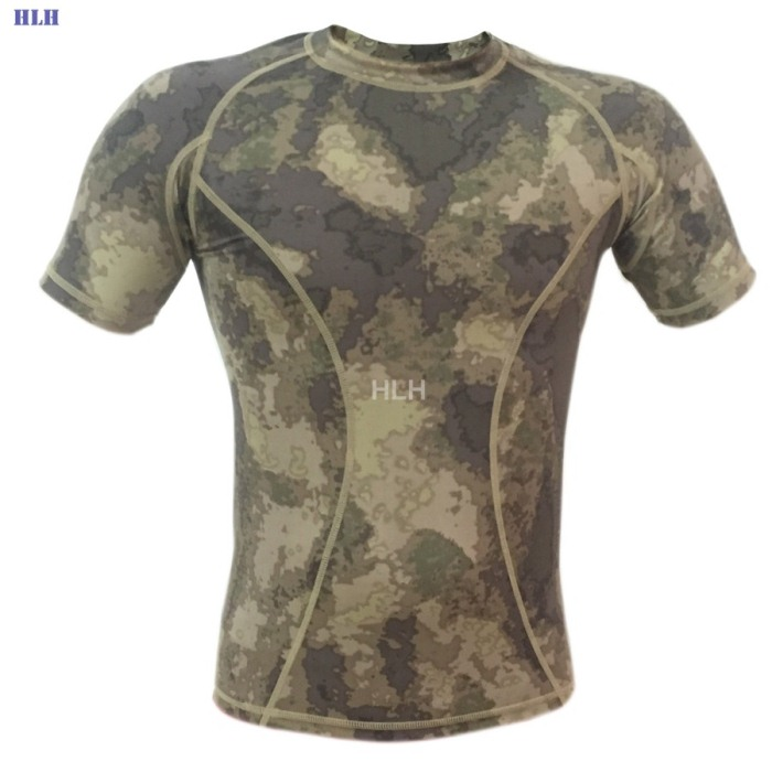 5 Colors Breathable Camouflage Tactical Paintball Airsoft Tees SATS
