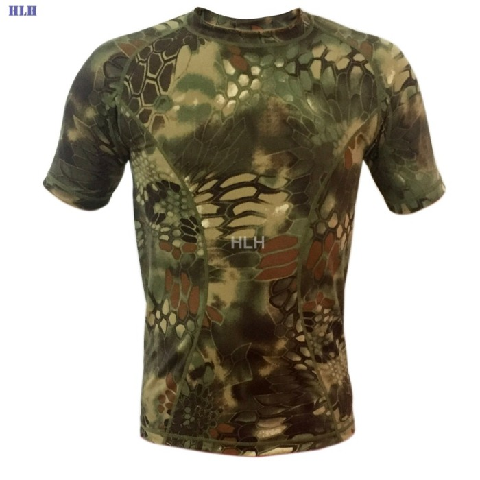 5 Colors Breathable Camouflage Tactical Paintball Airsoft Tees SMWCL