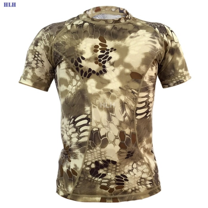 5 Colors Breathable Camouflage Tactical Paintball Airsoft Tees XLMWH