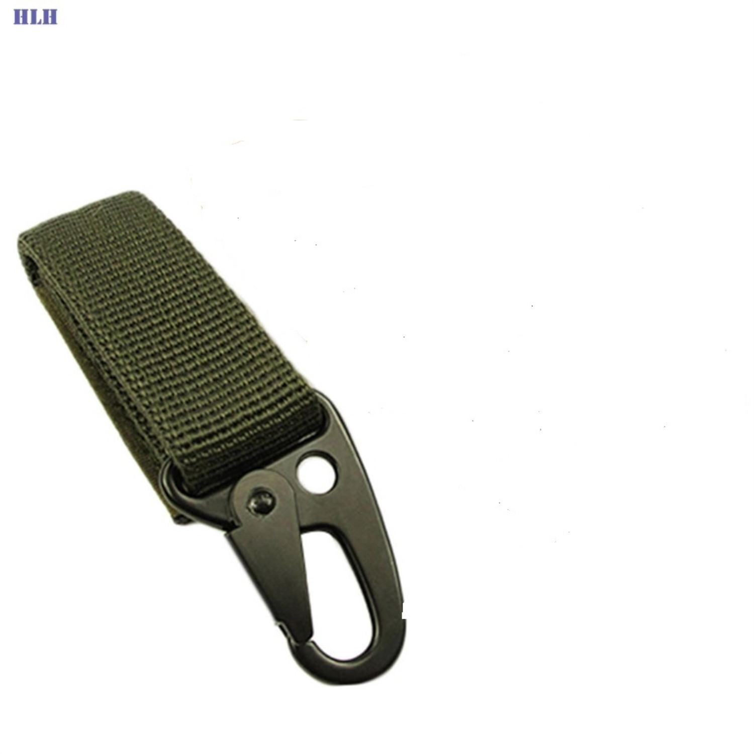 Outdoor Military Hiking Belt Tactical Molle Key Chain Green