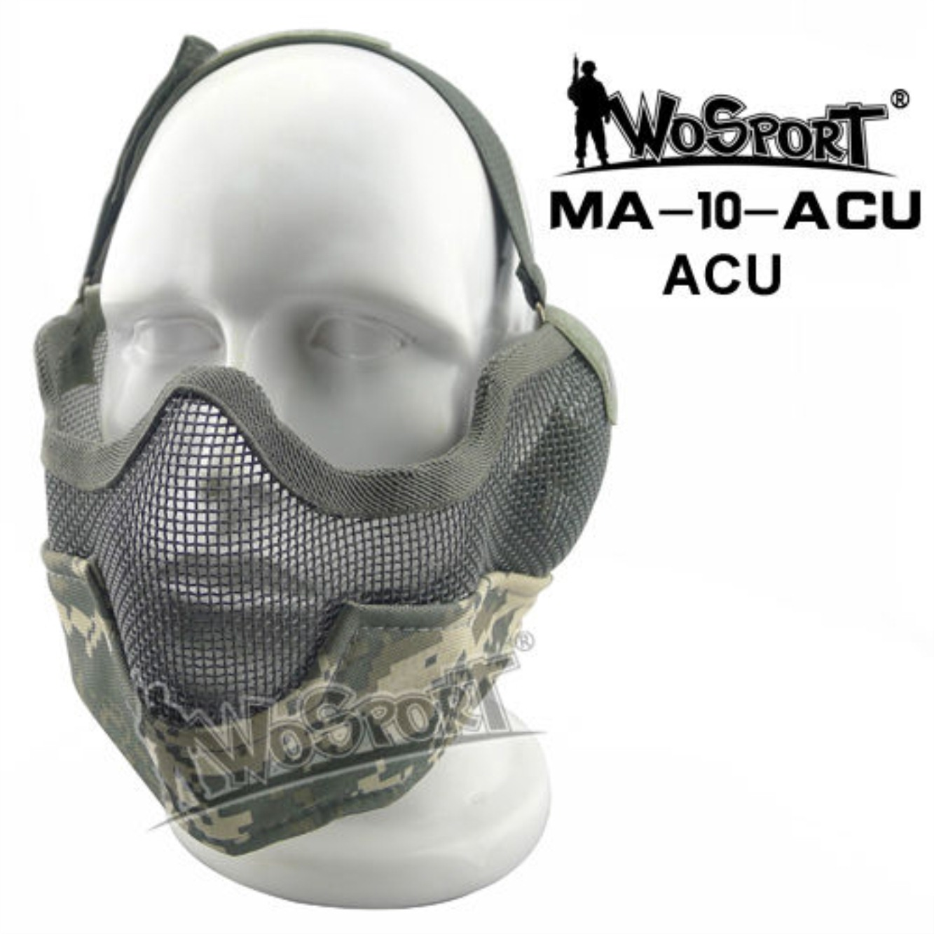 Tactical Outdoor Military Hiking WST Wire Mask ACU