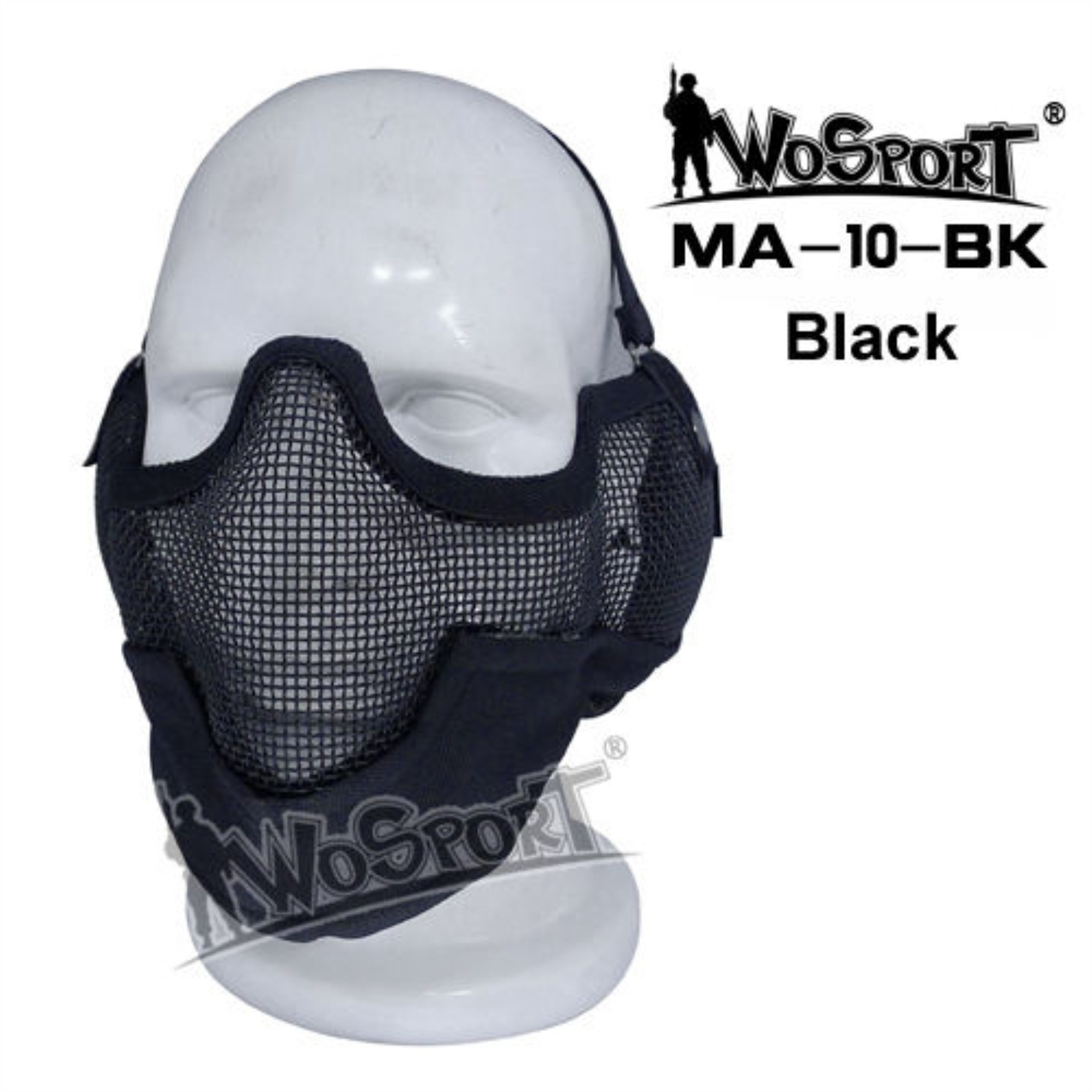 Tactical Outdoor Military Hiking WST Wire Mask Black