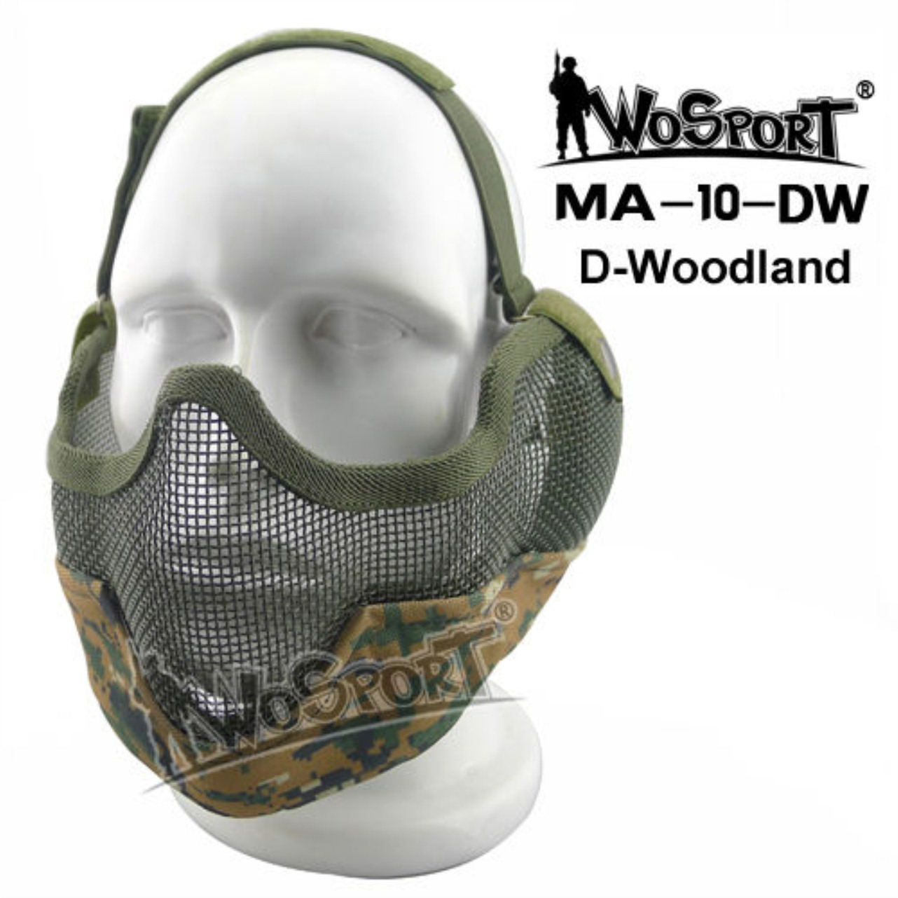 Tactical Outdoor Military Hiking WST Wire Mask CLSM