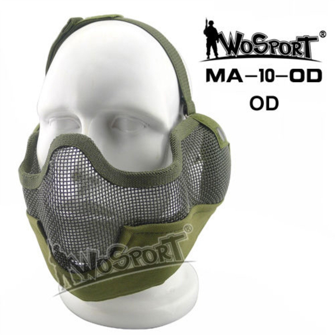Tactical Outdoor Military Hiking WST Wire Mask Green