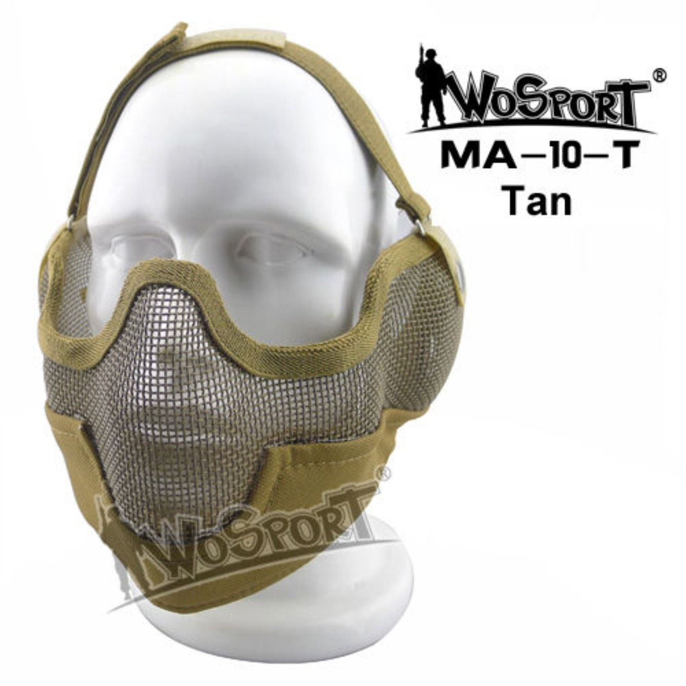 Tactical Outdoor Military Hiking WST Wire Mask Tan