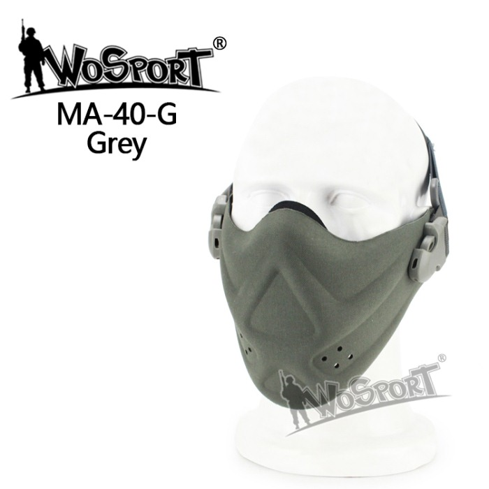 Tactical Outdoor Military Hiking Lightweight Foam Mask Grey