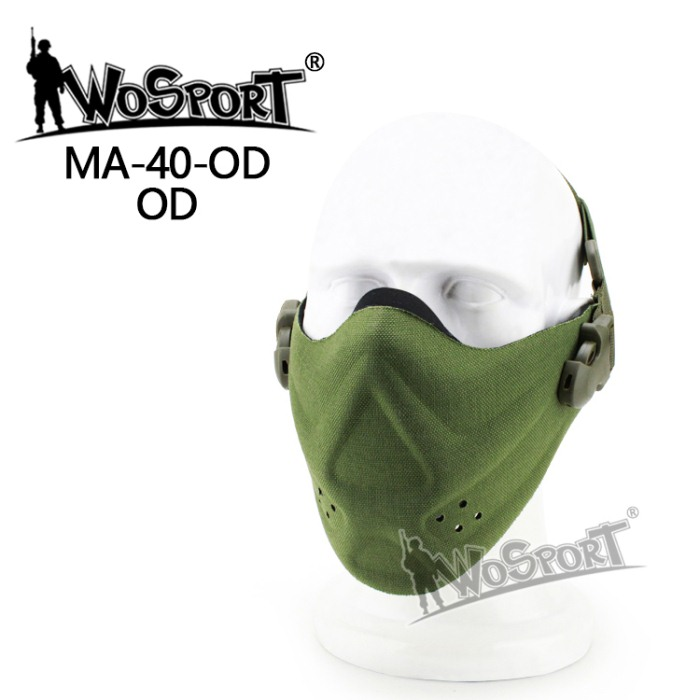 Tactical Outdoor Military Hiking Lightweight Foam Mask Green