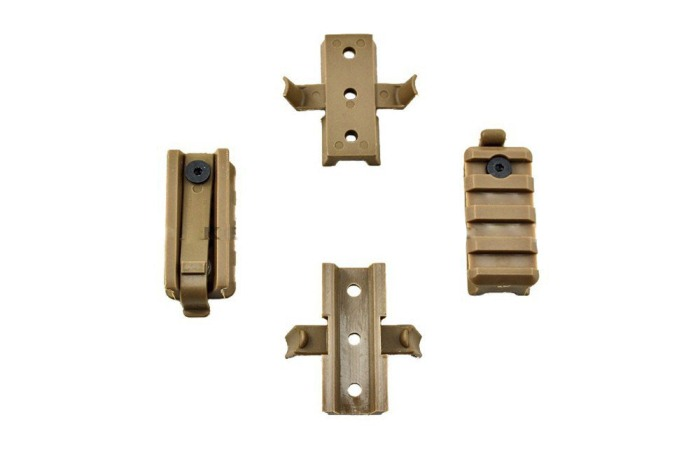 High Quality Plastic Mount Set For OPS Helmet Rail Tan