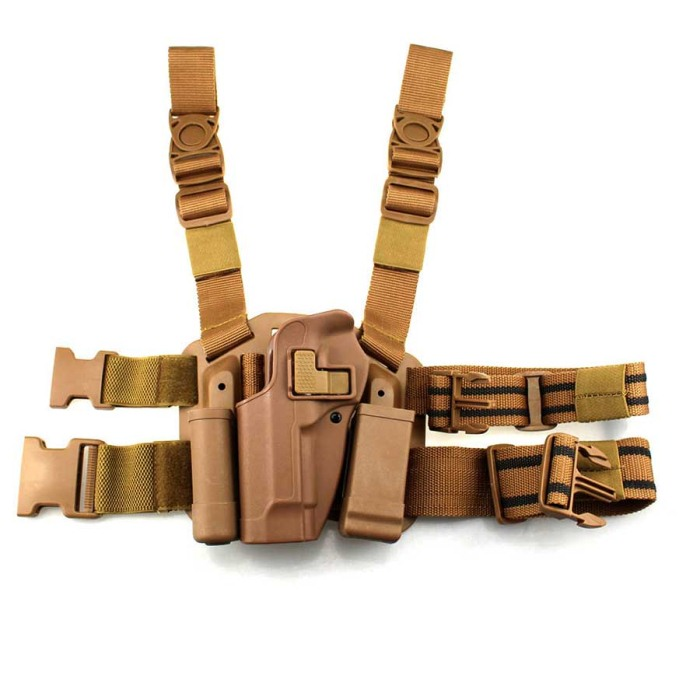 Tactical M92 Leg Holster Left Hand for Beretta M9 M92 Tan