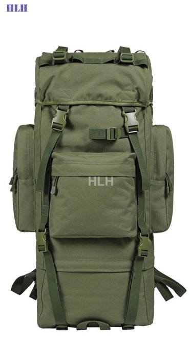 Travel Rucksacks Camping Hiking Trekking Camouflage Bags Green