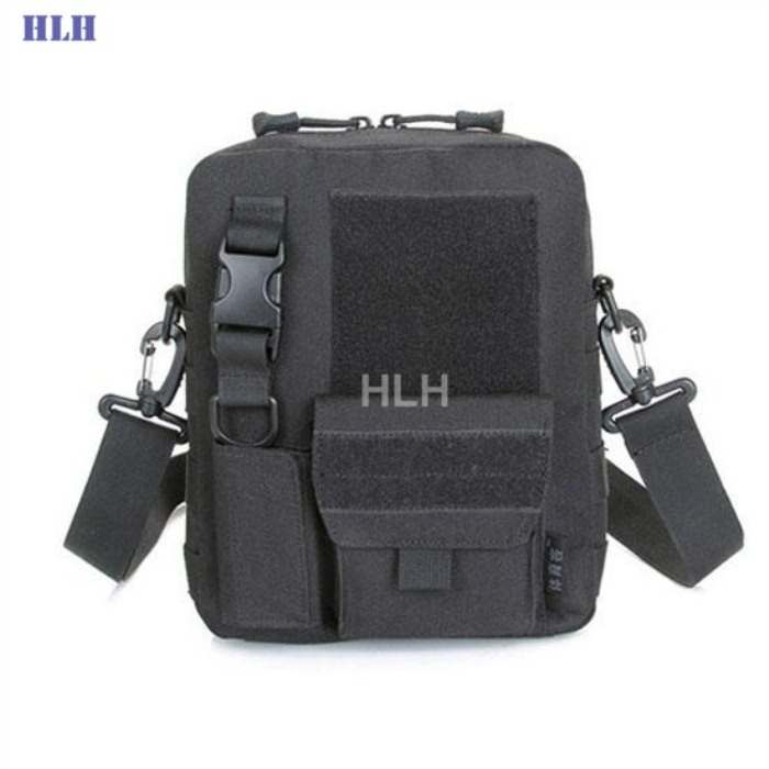 Tactical Military Bag MOLLE System Single Shoulder Packpack Black