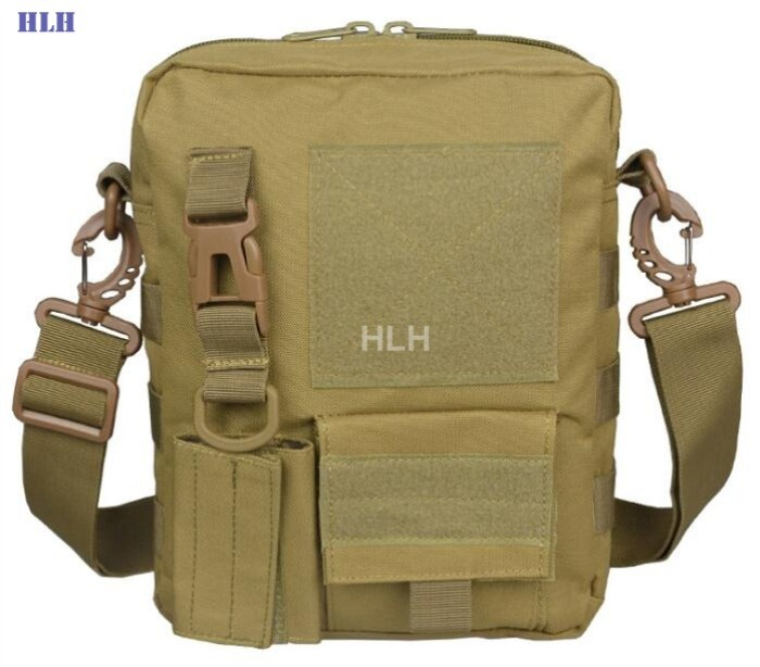 Tactical Military Bag MOLLE System Single Shoulder Packpack Tan