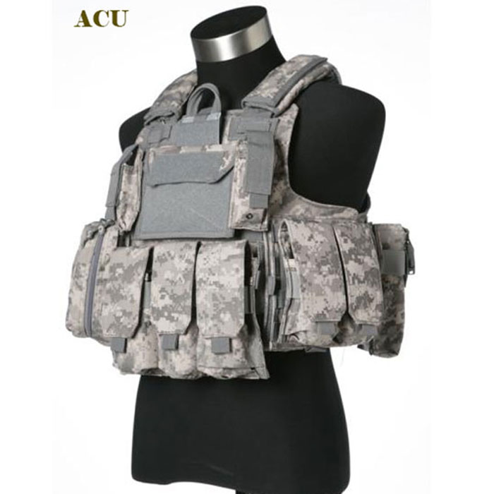 1000D Large Tactical MOLLE Vest ACU
