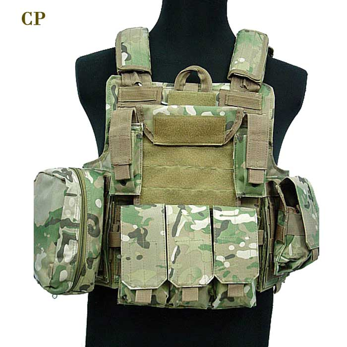 1000D Large Tactical MOLLE Vest CP Perfect for Airsoft