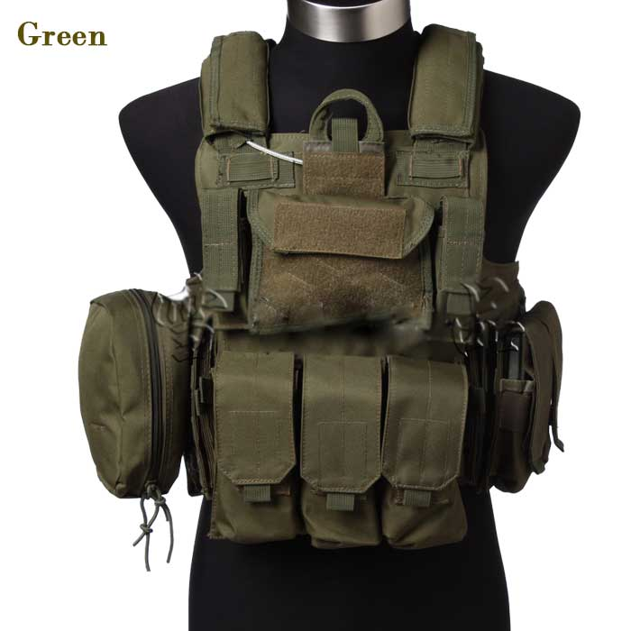 1000D Tactical Vest Military Molle Combat Assault Airsoft Vest TAN