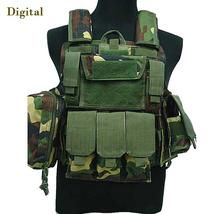 1000D Large Tactical Military Vest MOLLE Attachments Modular Combat