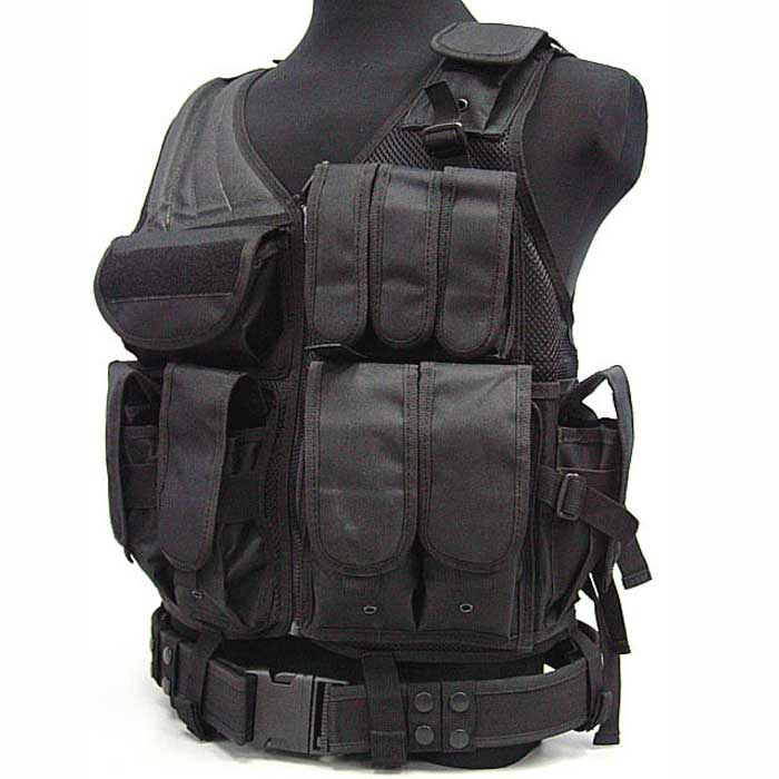 Molle Tactical Vest Military Airsoft Combat Pistol Gun Holster Pouch