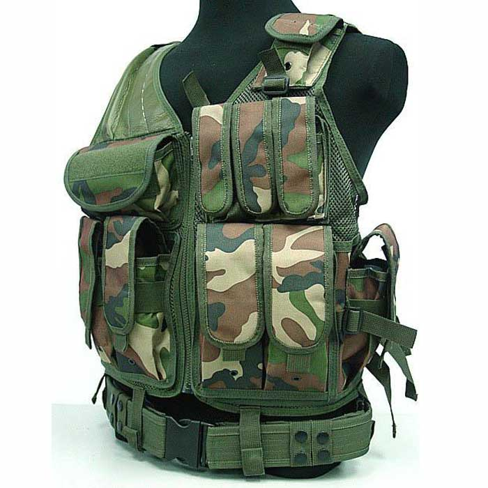 Molle Tactical Vest Enforcement ASSAULT with Combat Magazine Pouch C